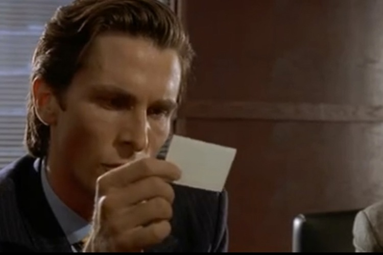 American psycho business cards patrick bateman share this colourmoves