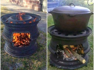 How to Reuse Car Rims to Make a Fire Pit BBQ