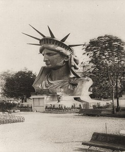 The Statue of Liberty's head, on exhibit at the Paris Exposition of 1878.